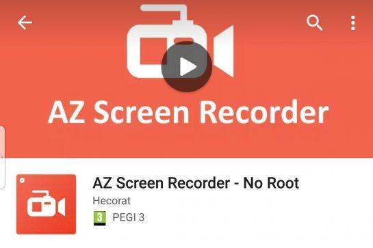 تحميل تطبيق تسجيل الشاشة فيديو AZ Screen Recorder للأندرويد