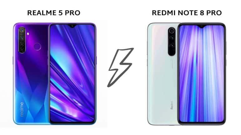 مقارنة بين Xiaomi note 8 pro و Realme 5 pro